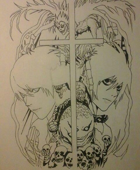 Death Note Ryuk Dibujo Para Colorear