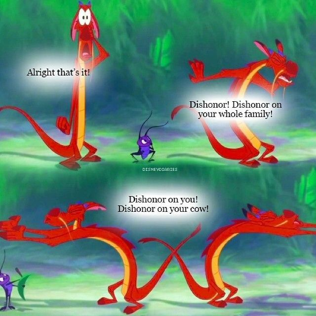 Image result for mushu dishonor