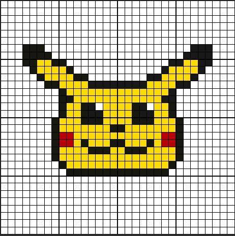 Dessin Pixel Pikachu Facile