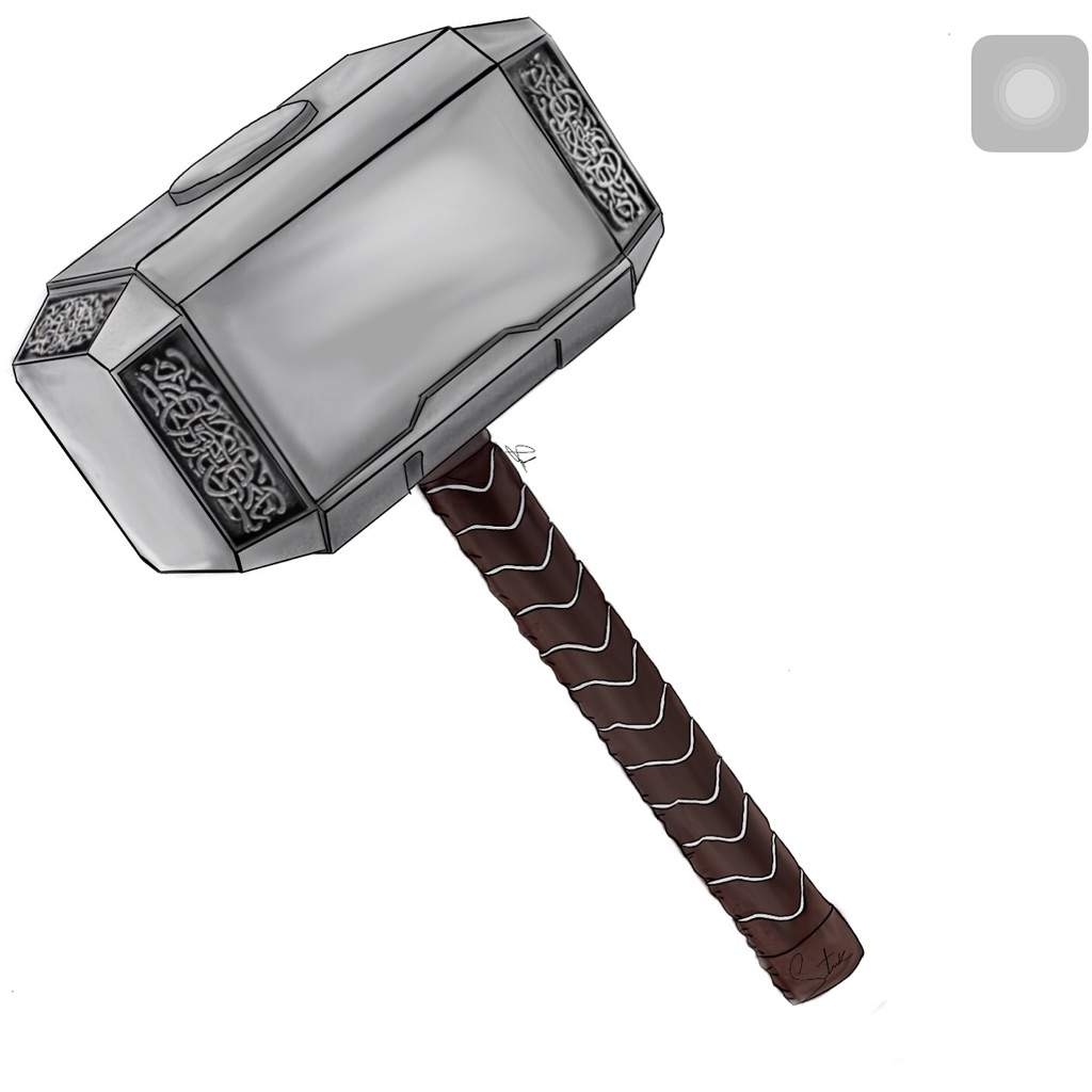 This is an image of Smart Thor Hammer Drawing