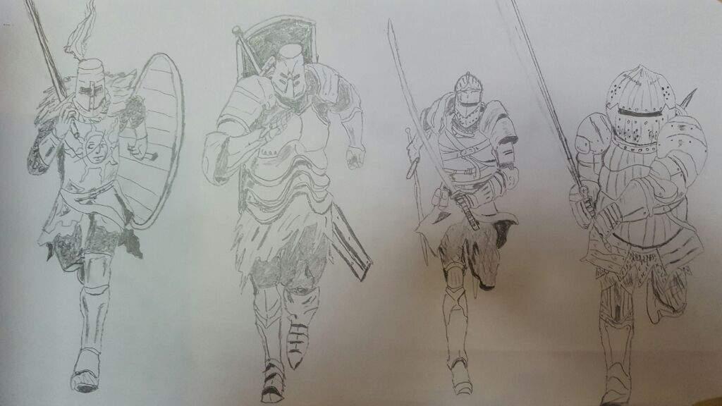 knights drawing dark souls amino