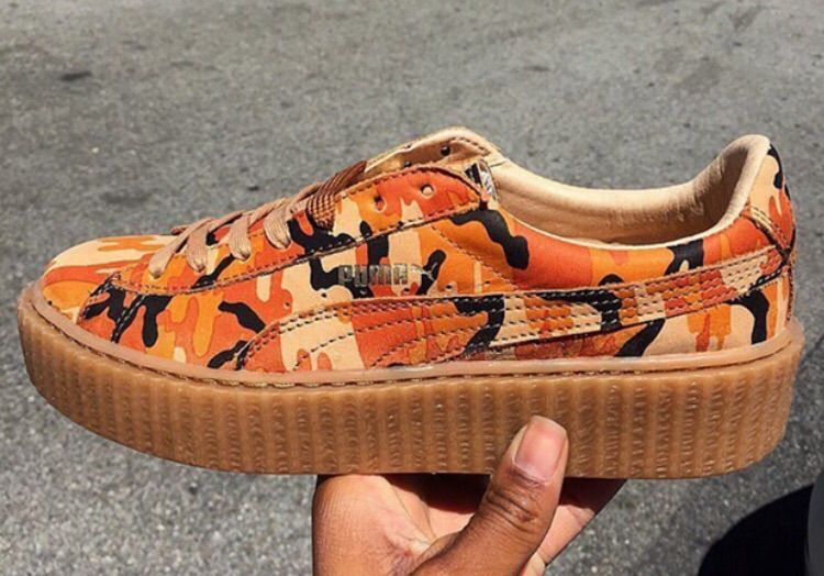 online retailer dc2bb 3bf53 🔥 Rihanna has Three PUMA Creepers Releasing in Camouflage ...