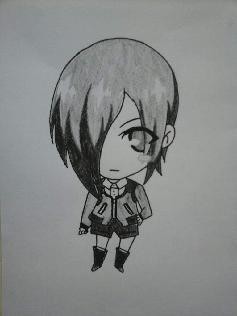 Como Dibujar Chibi Touka Kirishima Anime Amino