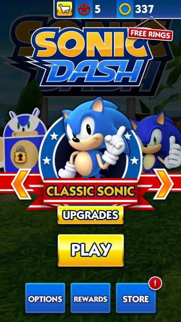 Classic Sonic In Sonic Dash Sonic The Hedgehog Amino