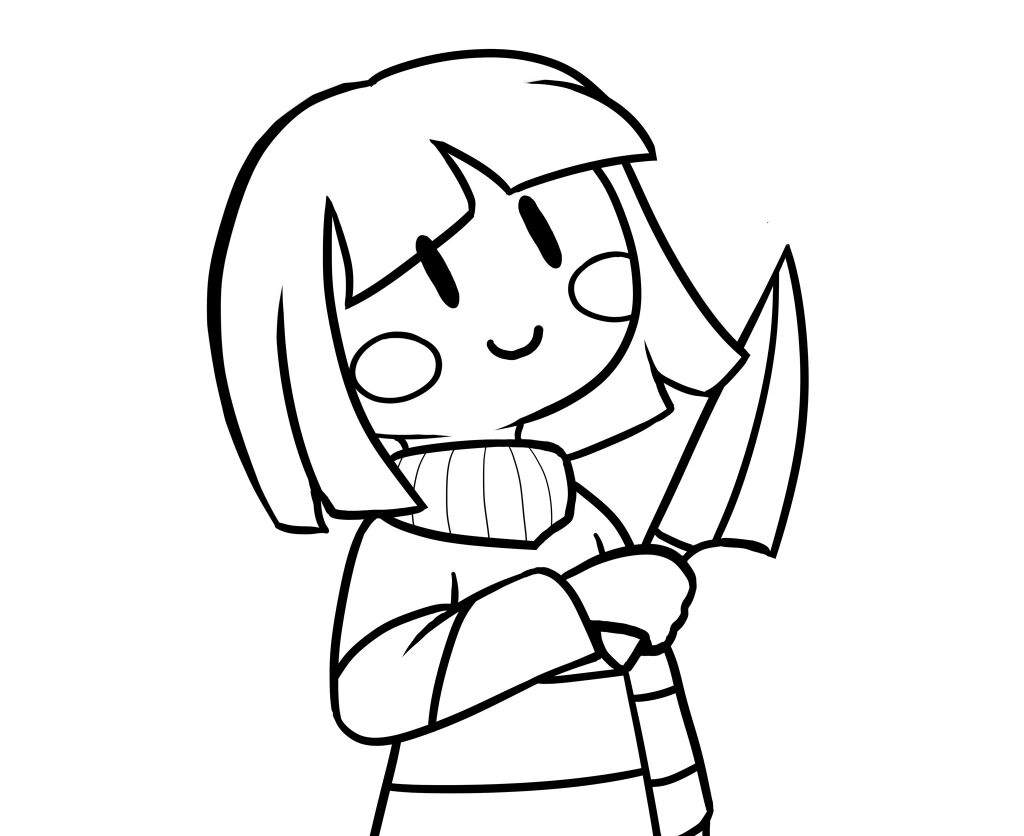 Simple drawing of Chara Undertale Amino