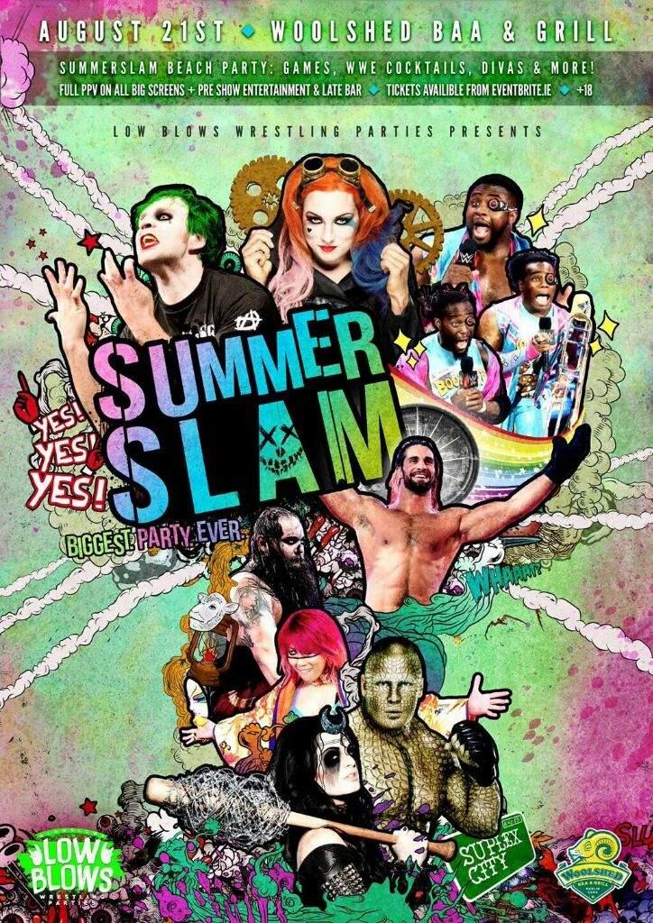 custom summerslam 2016 poster wrestling amino