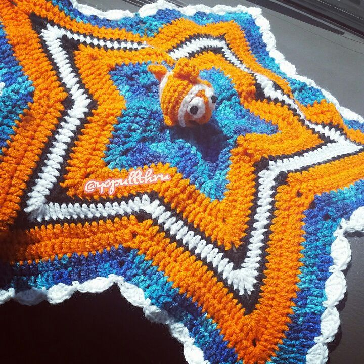 Crochet Finding Nemo Inspired Lovey Star Blanket Crafty Amino