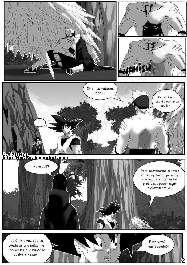 Manga Goku En El Mundo De Naruto Parte 5