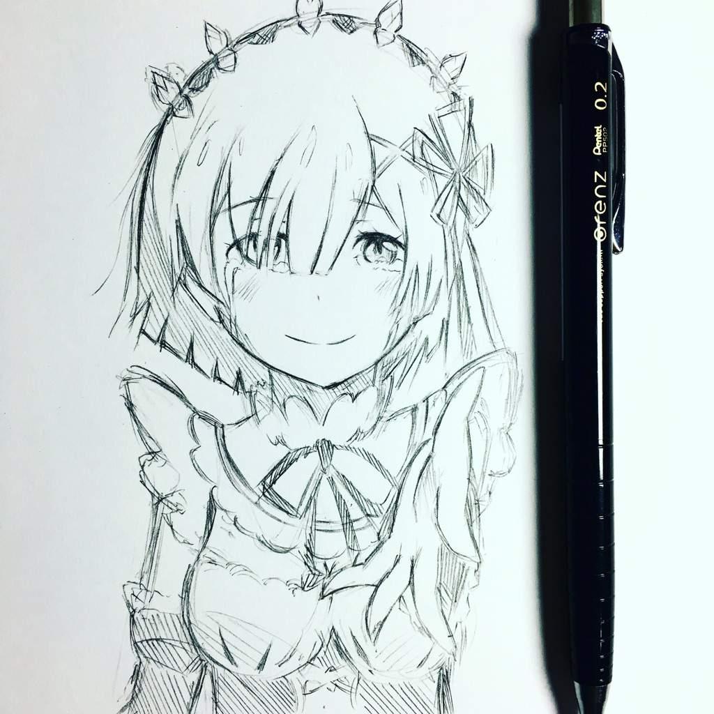 Quick rem from rezero sketch anime amino