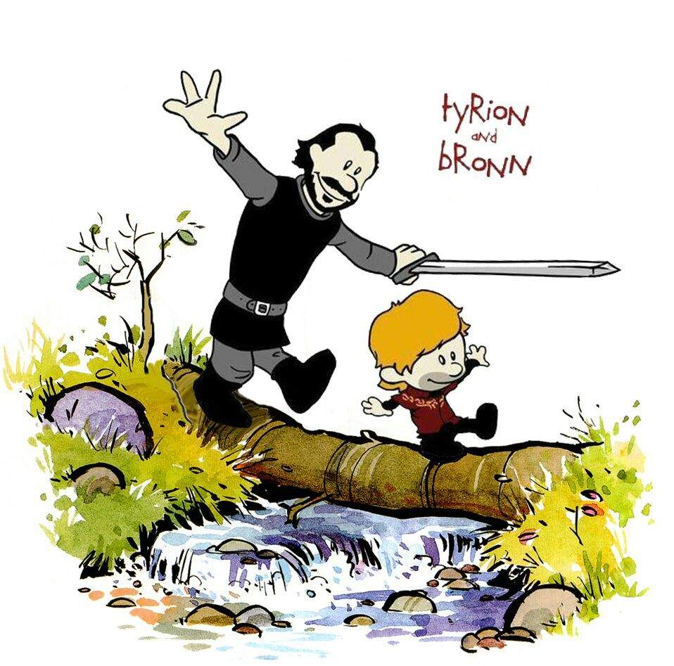 Tyrion And Bronn As Calvin And Hobbes Thrones Amino