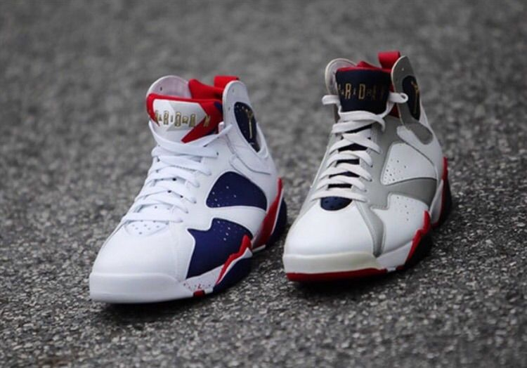 "a6c377c0550baf This new Air Jordan 7 is an alternate version of the original ""Olympic"" Air  Jordan 7 that Michael Jordan wore during the 1992 Olympics."