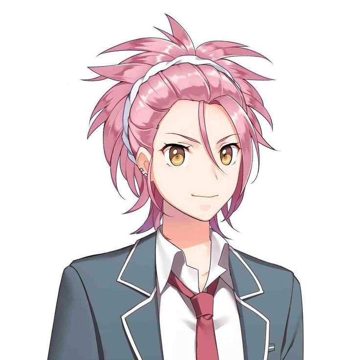 Anime male pink hair