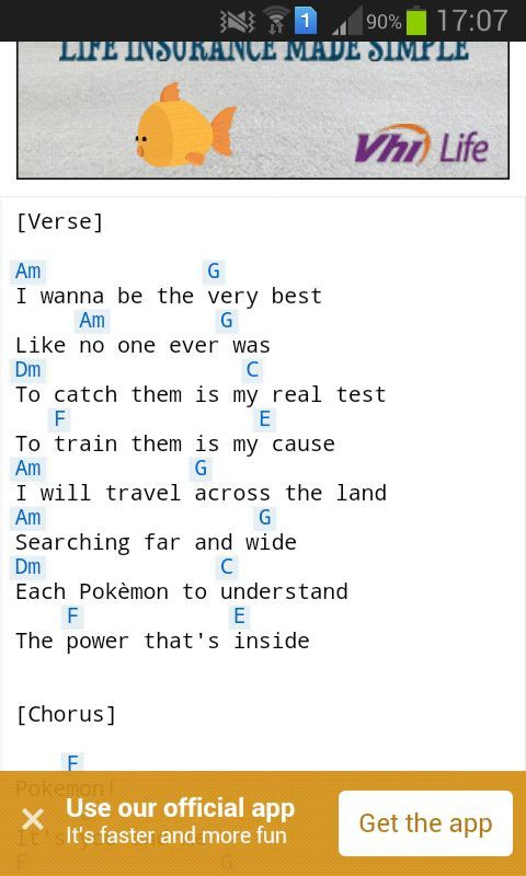 Chords For Pokemon Theme Song Guitar Amino