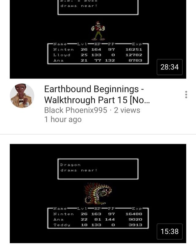 Part 15 and 16 for Earthbound: Beginnings are out  | Video