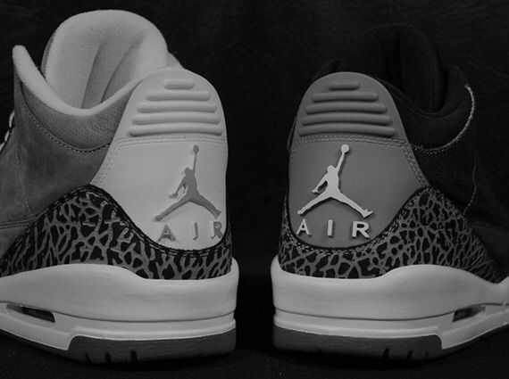 """new concept d6e6f 88824 This """"Wool"""" version of the Air Jordan 3 is dressed in a Dark Grey, Dark  Grey and Sail color scheme. The shoe is built using premium wool material  in Dark ..."""