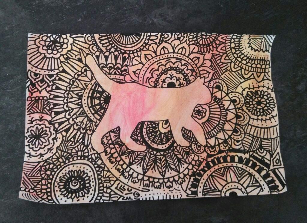 Dibujos De Animales Usando Las Tecnica Del Zentangle Art Y Pintado