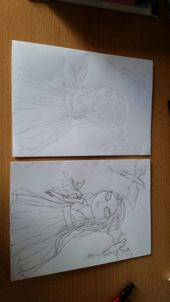 The Sketch And Version On Copic Paper