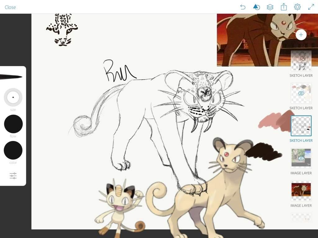 MYART} Alola Form Persian Concept Art | Pokémon Amino