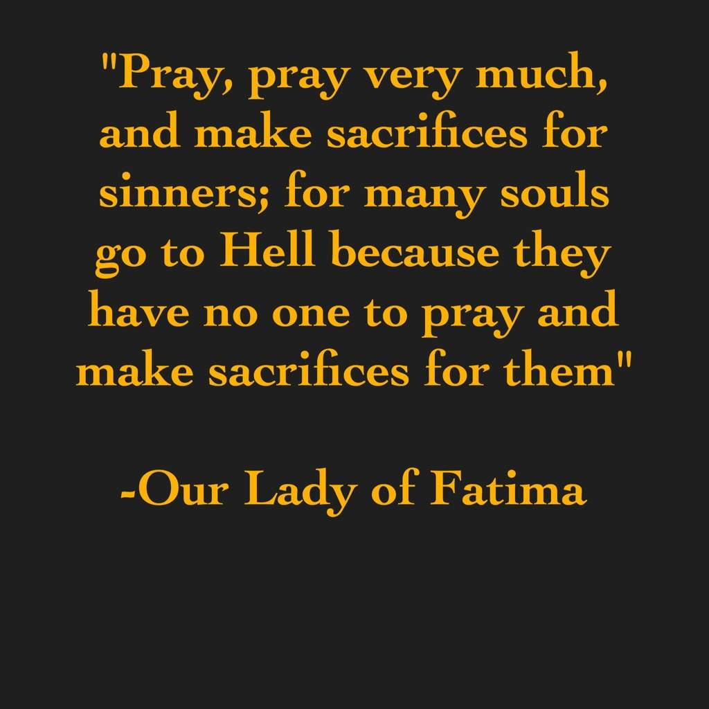 Image result for Our Lady of Fatima on Hell