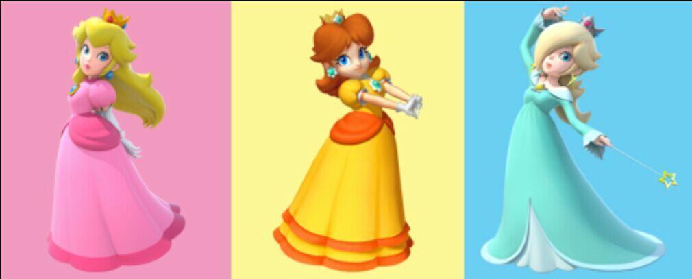Princess peach daisy rosalina seems