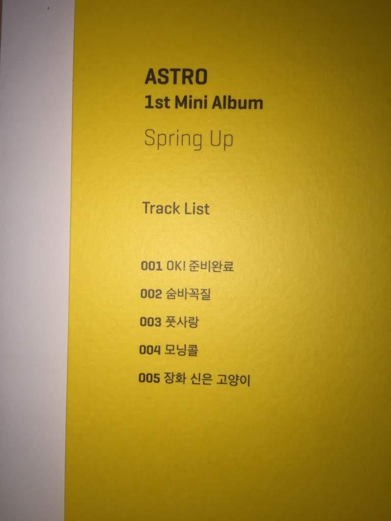 Album Unboxing - Astro (아스트로) 1st Mini Album 'Spring Up