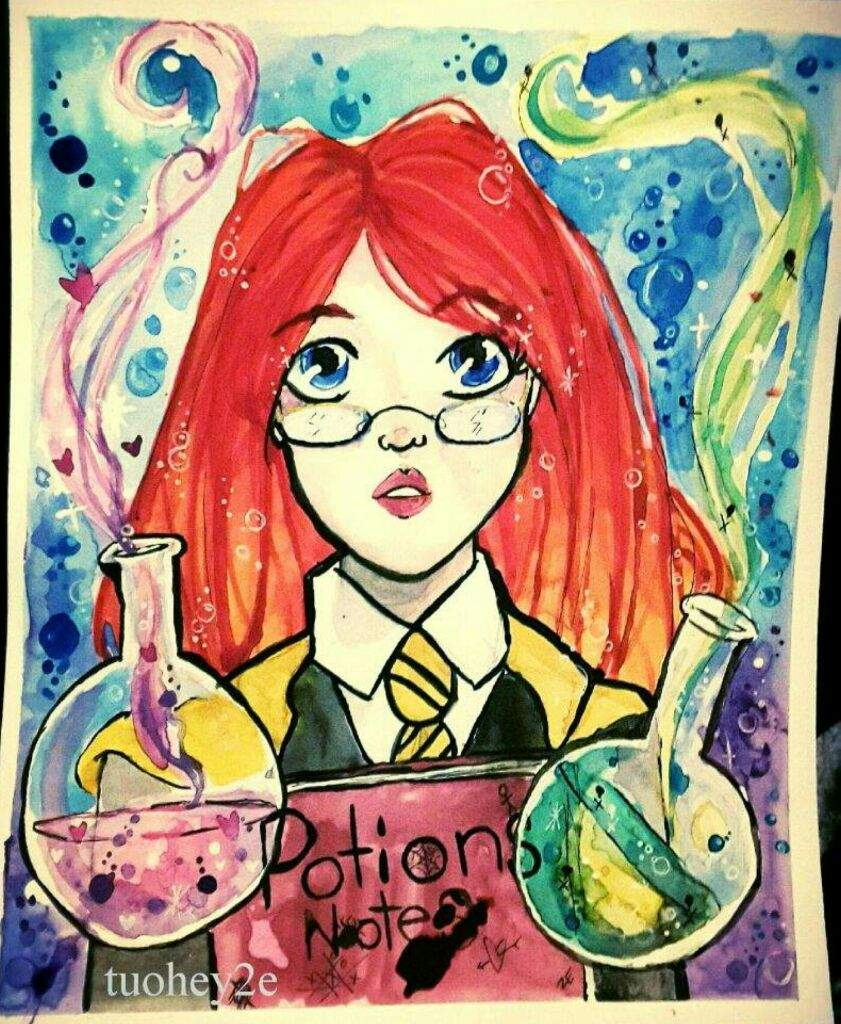 Painting Joker Timelapse: LUNA LOVEGOOD Watercolor Time Lapse Painting Harry Potter