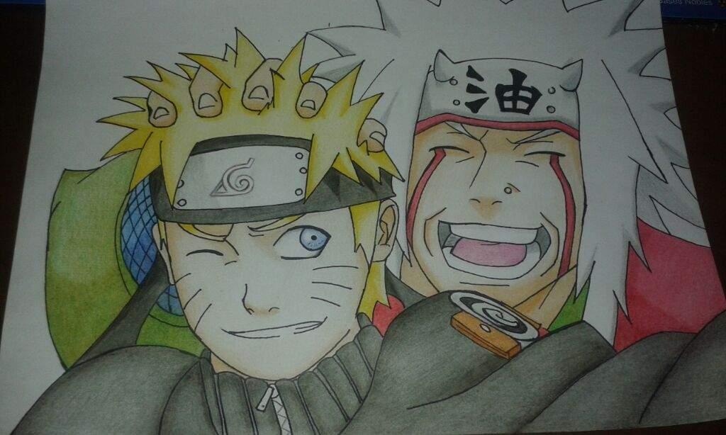 Proceso de dibujo Naruto y Jiraiya  Anime Amino