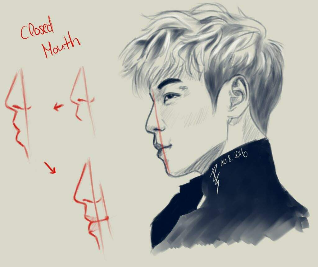 how to draw side profile