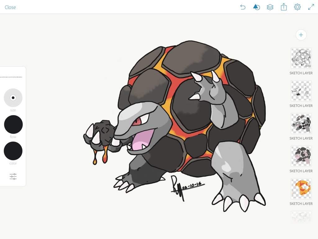 MYART} Alola Form Golem Concept Digital Art | Pokémon Amino