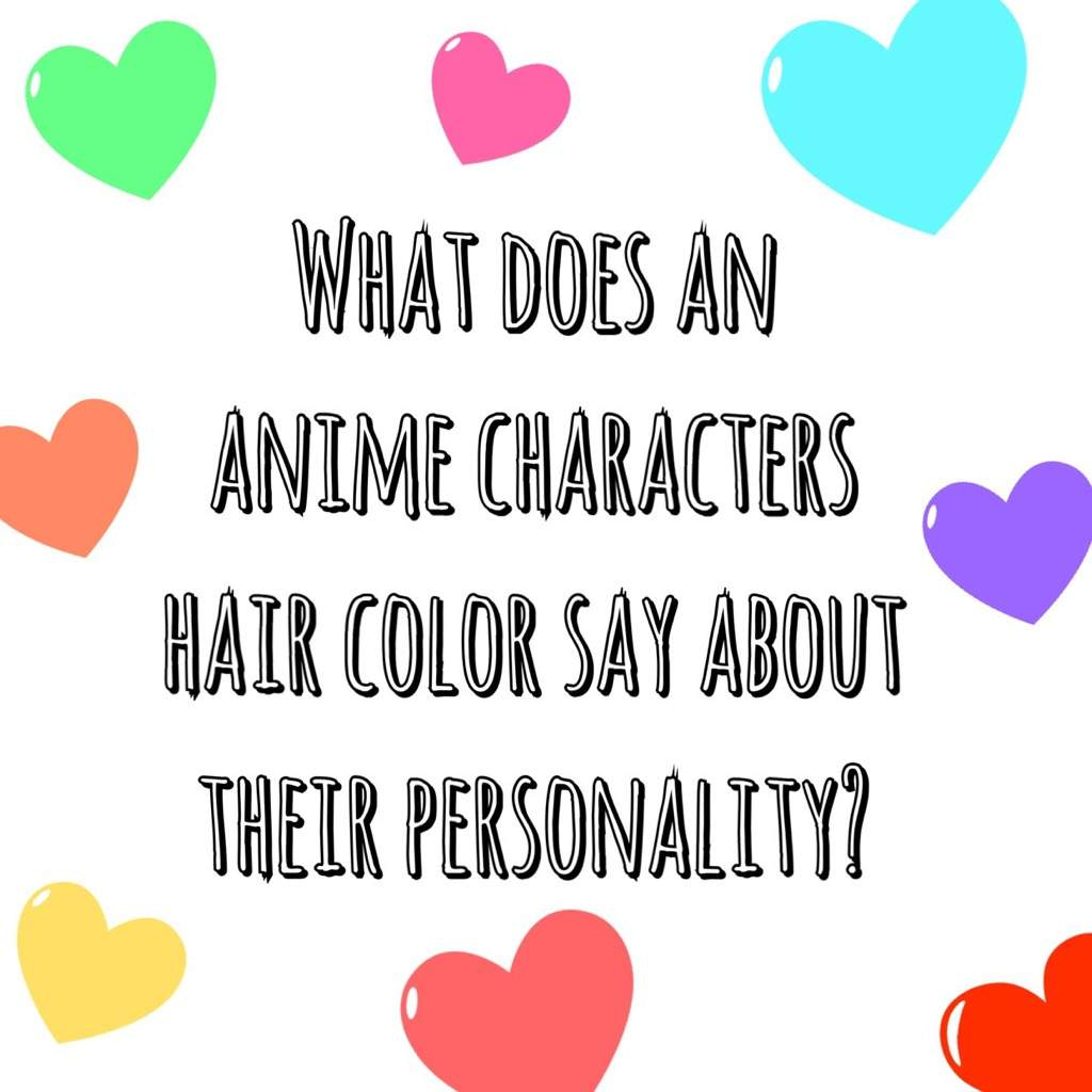 Anime Hair Color Shoujo Amino Amino