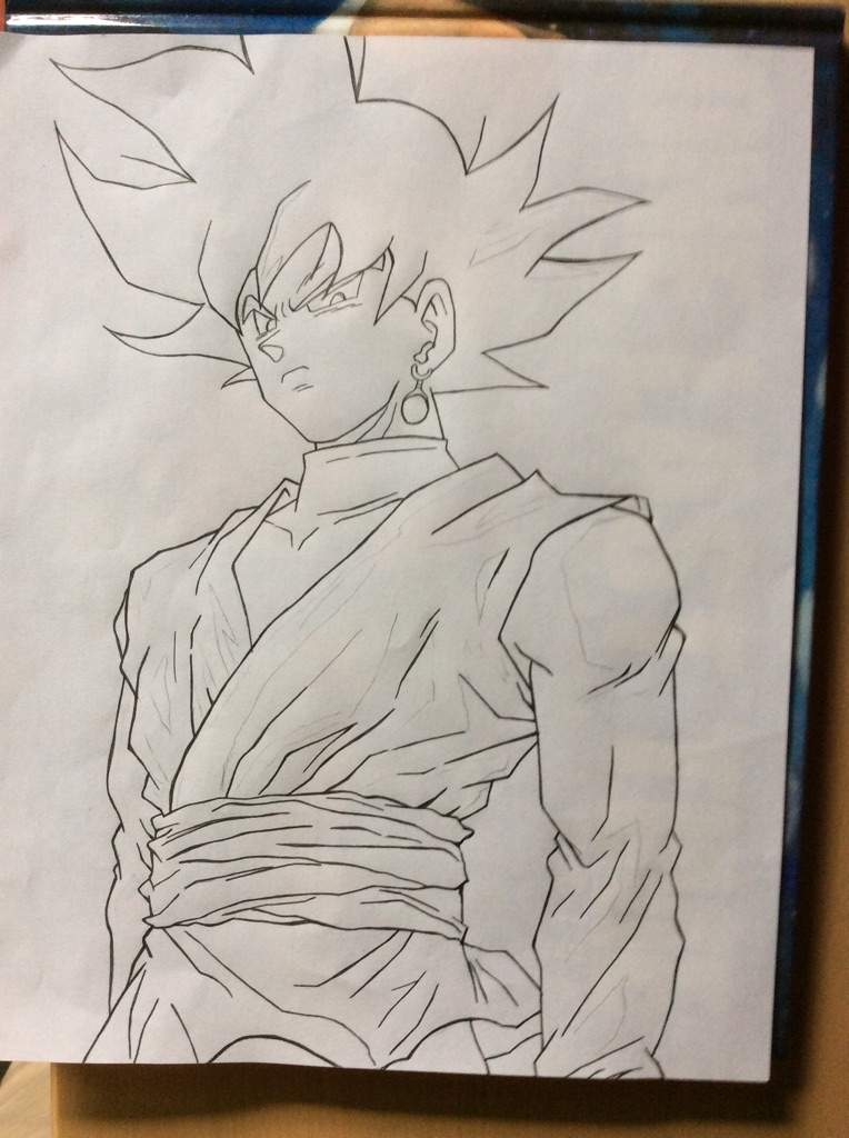 Black goku drawing