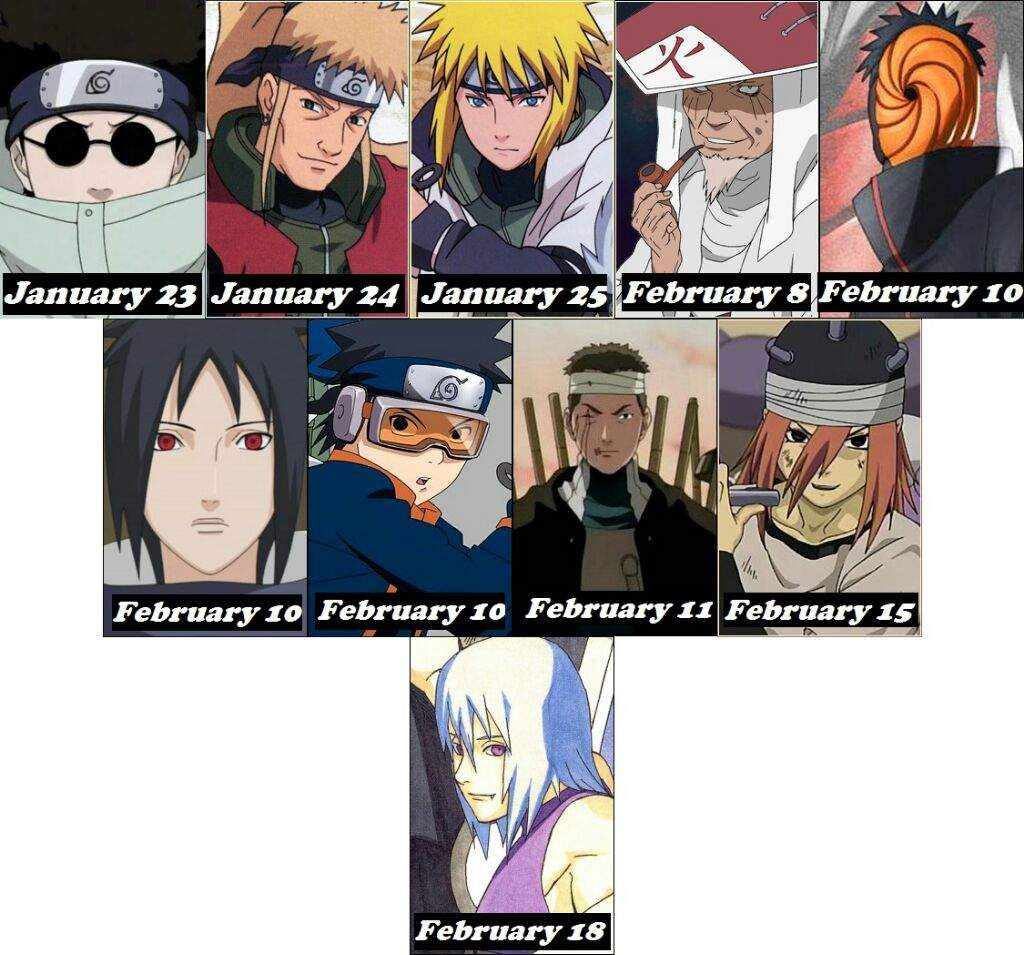 Anime Characters Born On February 9 : Naruto zoniac signs amino