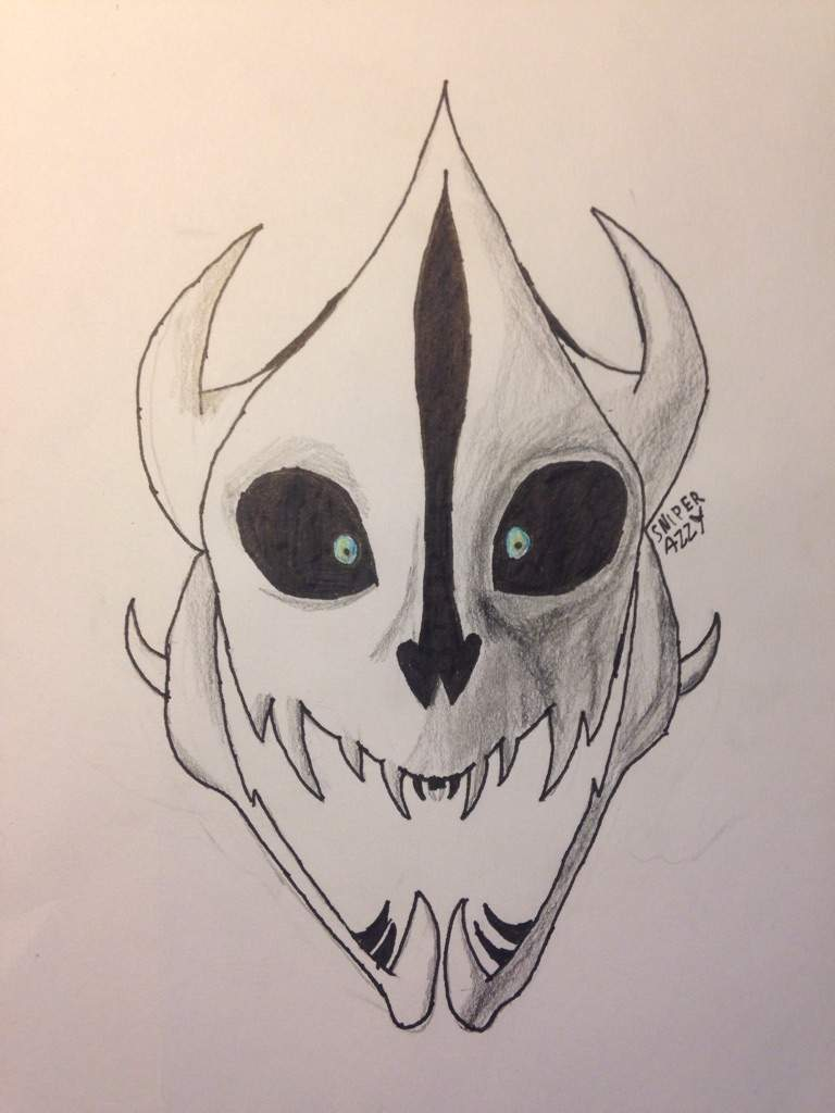 This is a photo of Lucrative Gaster Blaster Drawing