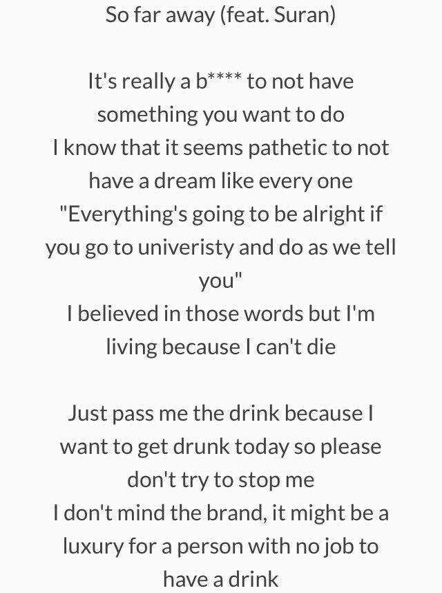 Lyric if you go away lyrics : SO FAR AWAY English lyrics (credit. @peachisoda twitter) | K-Pop Amino