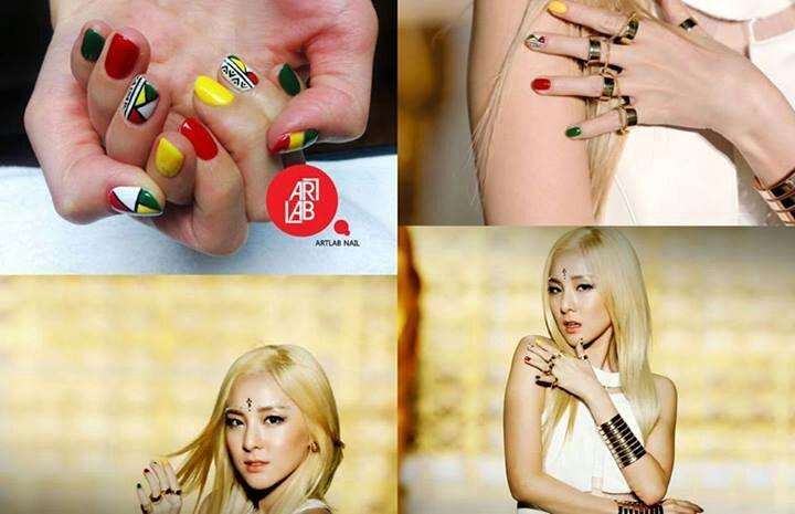 Nail-art al estilo kpop🌹💅 | •K-Pop• Amino Dara Falling In Love Nails