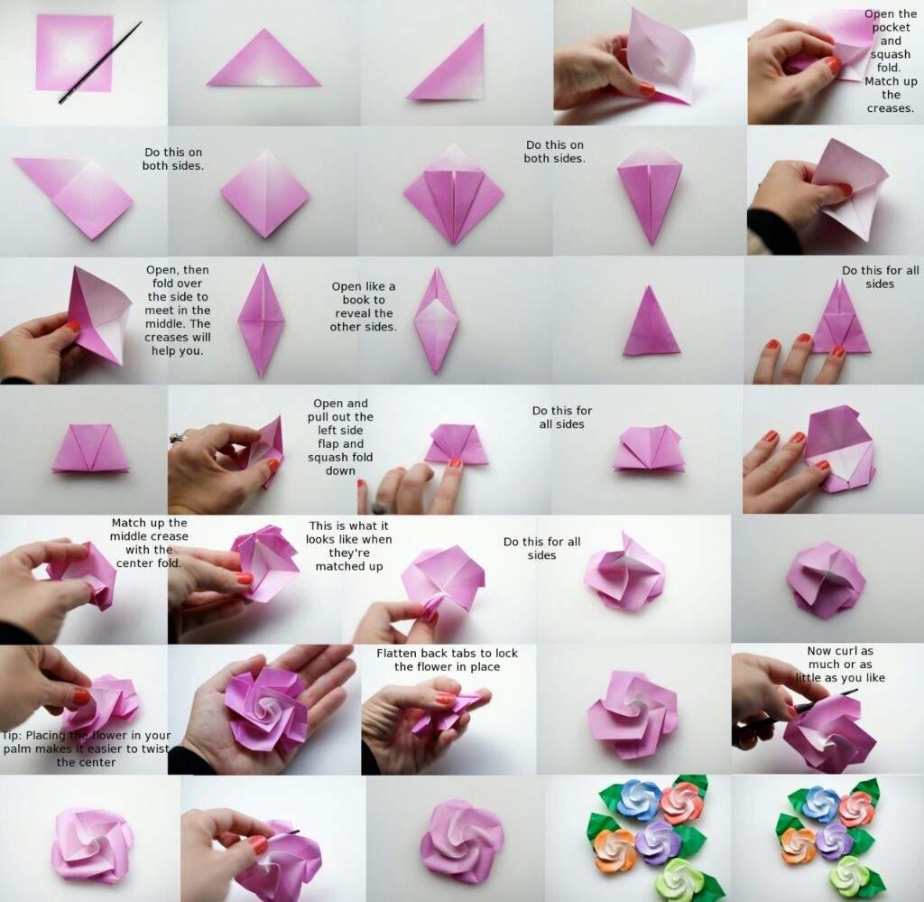 Rosas De Papel Manualidades Amino - Cmo-hacer-rosas-de-papel