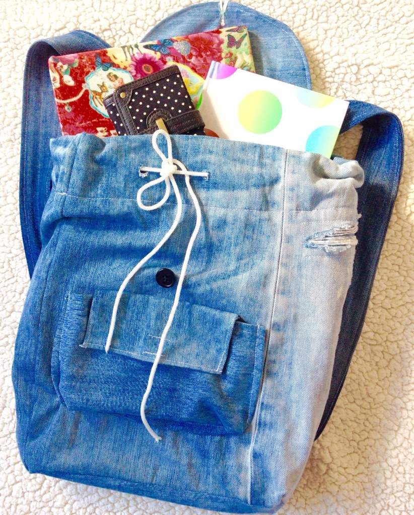 how to make a backpack out of jeans