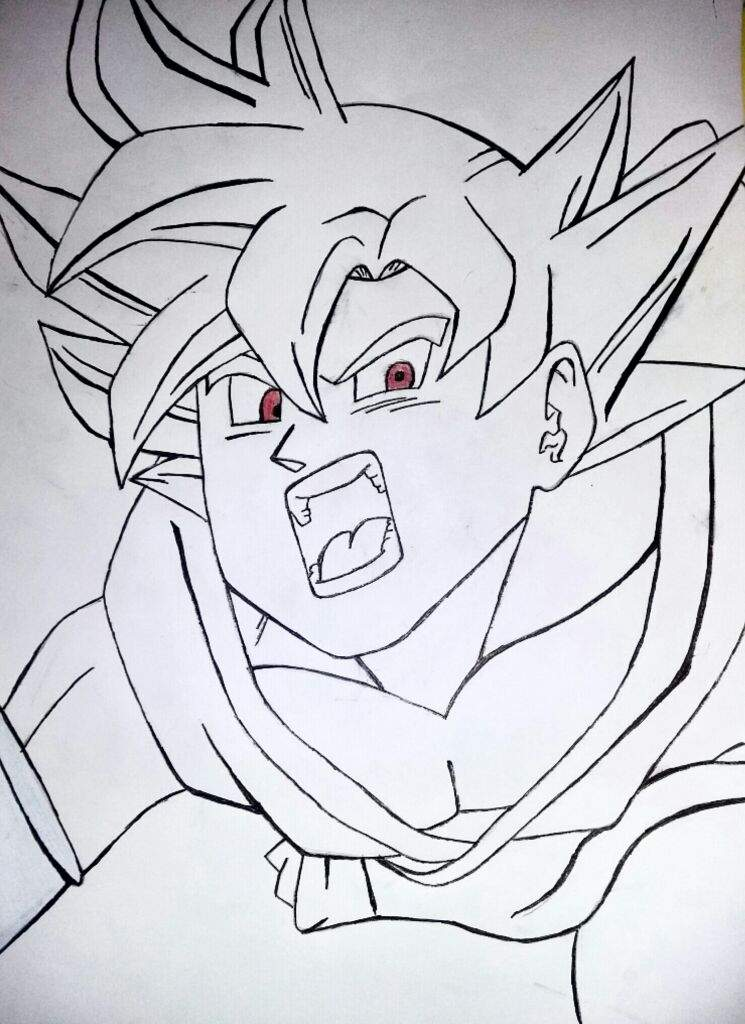My Drawing Of Goku Super Saiyan God Dragonballz Amino