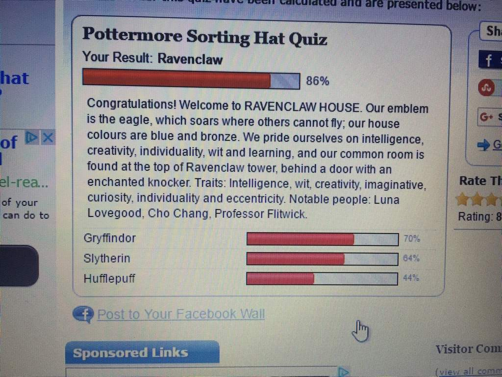 I Always Get Either Ravenclaw Or Gryffindor. But Pottermore Has Sorted Me  Into Hufflepuff A Couple Of Times (I Like To Take The Quiz At Least Five  Times.