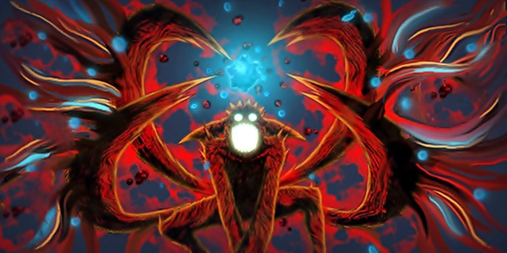 Awesome red chakra mode with tailed beast bomb | Naruto Amino