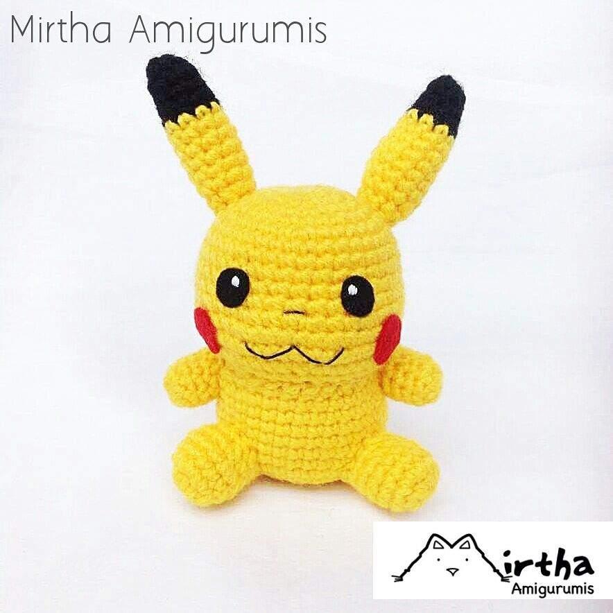Peluche Pikachu amigurumi | CrochetyAmigurumis.com | 884x884