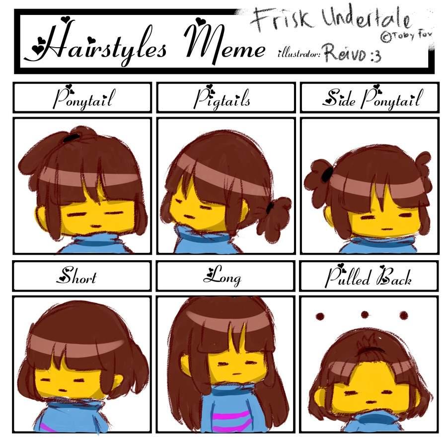 Hairstyle Meme Undertale Amino