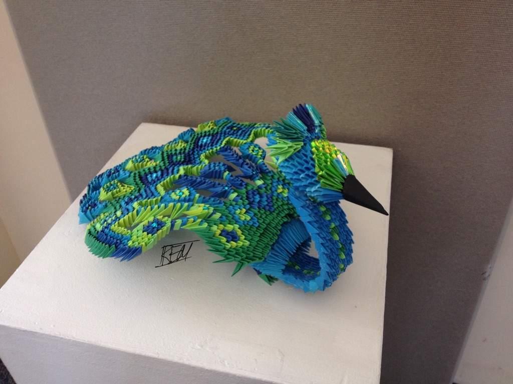 3D Origami Peacock | Art Amino - photo#10