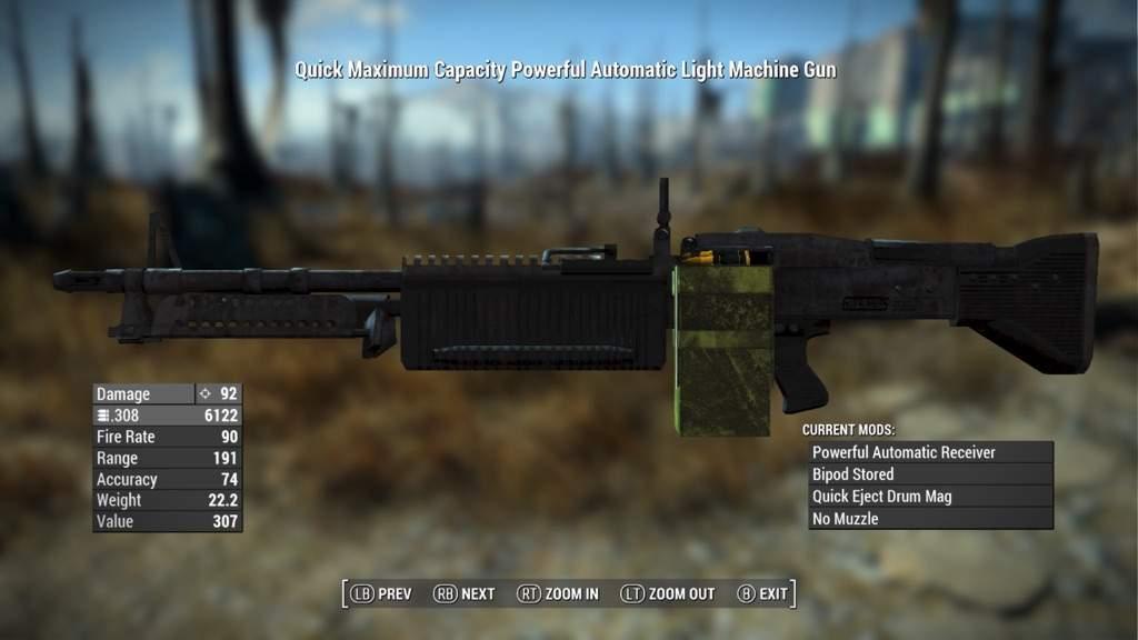 M60 Light Machine Gun [XB1 MOD] | Fallout Amino