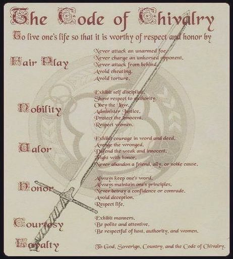 Code of chivalry today