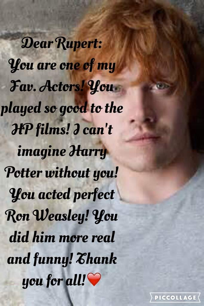 Happy birthday rupert grint harry potter amino challenge that the department of curation made for celebrate harrys and jk rowlings birthdays so i decide to do the same i made two birthday cards bookmarktalkfo Image collections