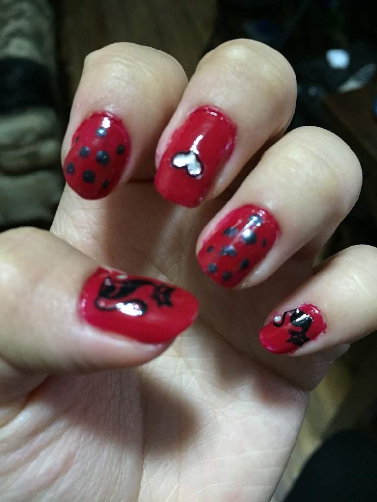Ladybug Nail Art Miraculous Amino