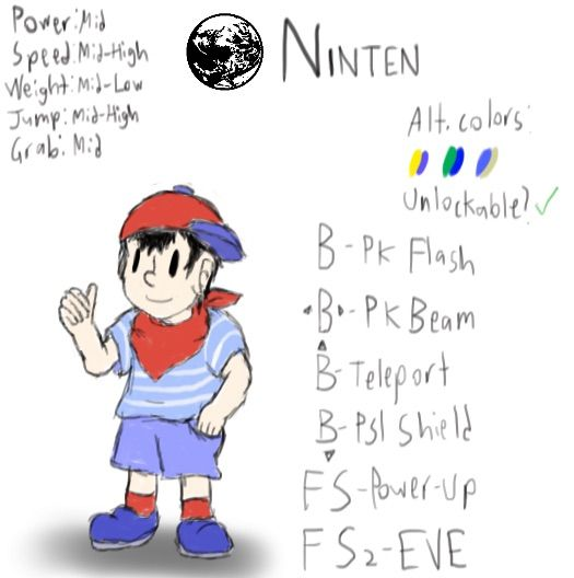 Ninten in Smash 5 will happen and will NOT be a Ness Clone