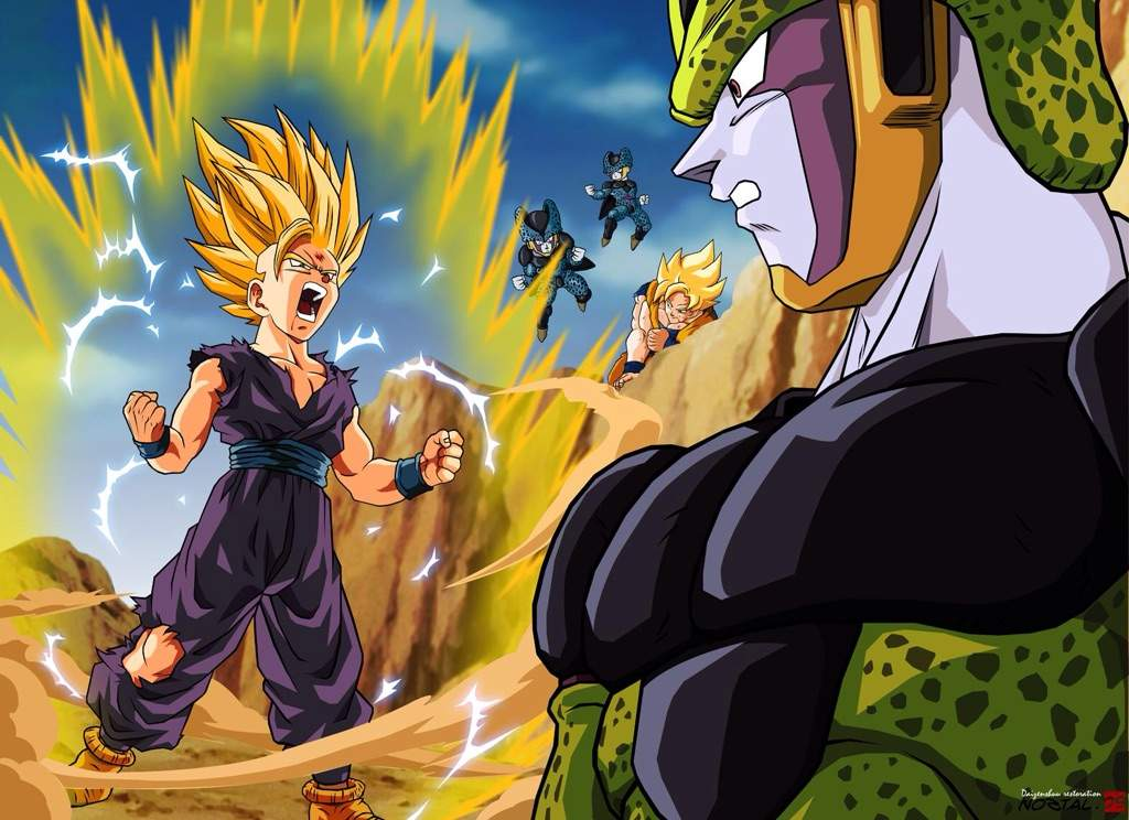 Image result for dragon ball z fight scene