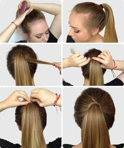 Peinados de pelo recogido para la escuela